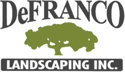 DeFranco Landscaping logo with green tree
