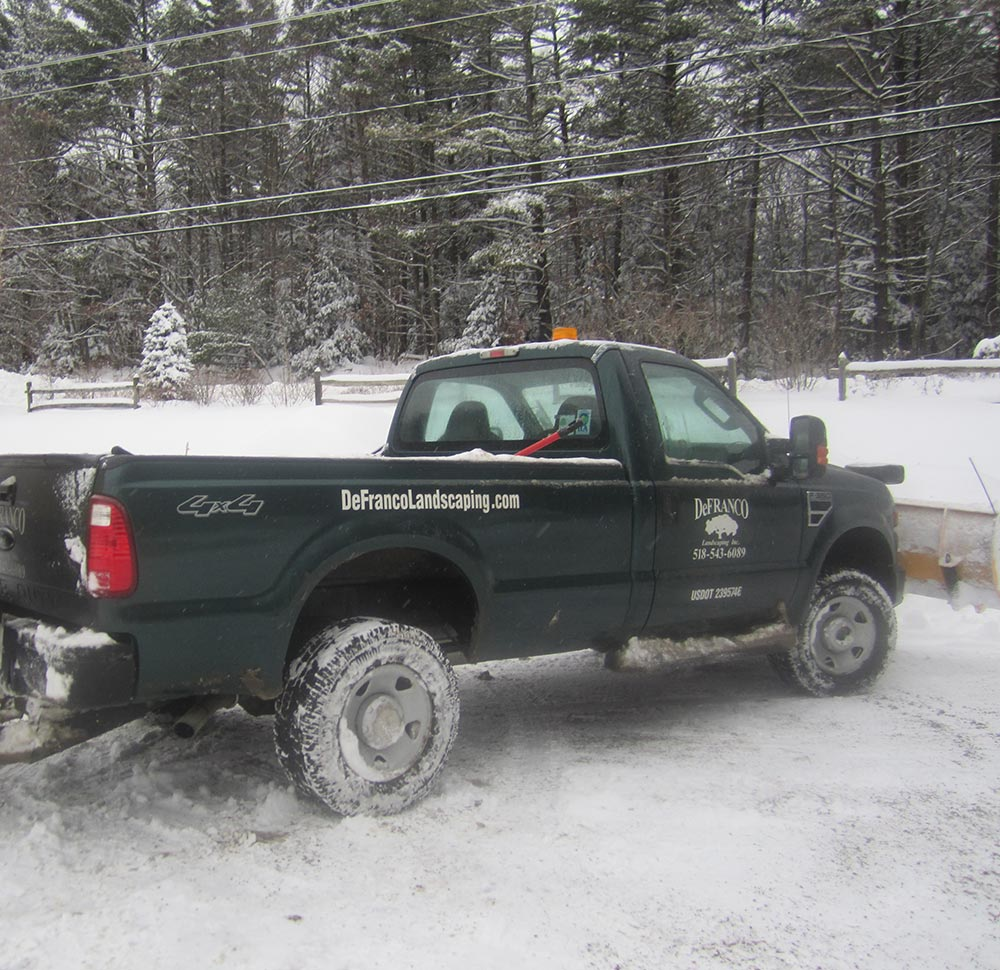 DeFranco Landscaping Truck with Snow Plow