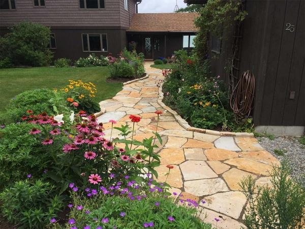 long stone walkway